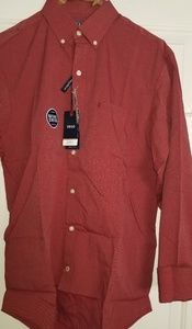 Mens Izod Natural Stretch Long Sleeved Shirt sz S